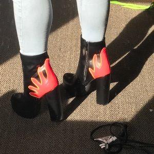 Nasty Gal Flame Heels